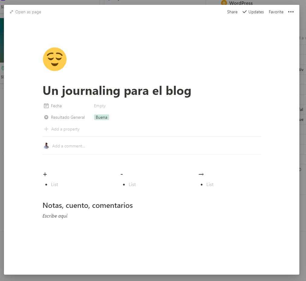 Review Semanal Plantilla de Journaling